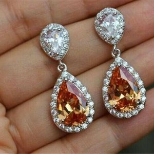 UNKNOWN Jewelry - Lab Created Topaz n CZ Drop Earrings